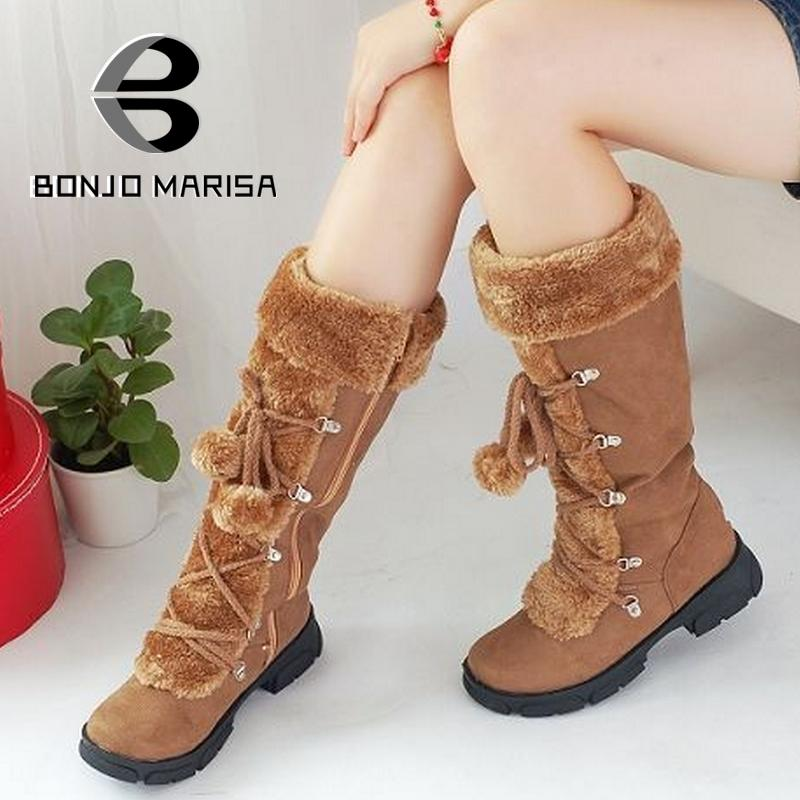 Wholesale 2014 New Hot Fashion sexy ladies Platform Boots Women Knee High boots winter women shoes fur warm snow boots<br><br>Aliexpress