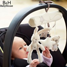 Buy Musical Soft Plush Rabbit Bear Baby Rattle Hanging Toy Stroller Star Hanging Rattle Mobile Products Cute Baby Toys 67 for $5.75 in AliExpress store