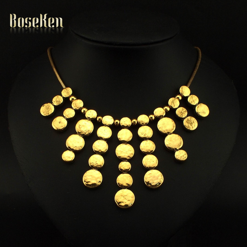 Fashion Unique Design Accessories High Quality Gold Chain Bead Pendants Punk Necklaces For Women Dress Charm Jewelry #3326(China (Mainland))
