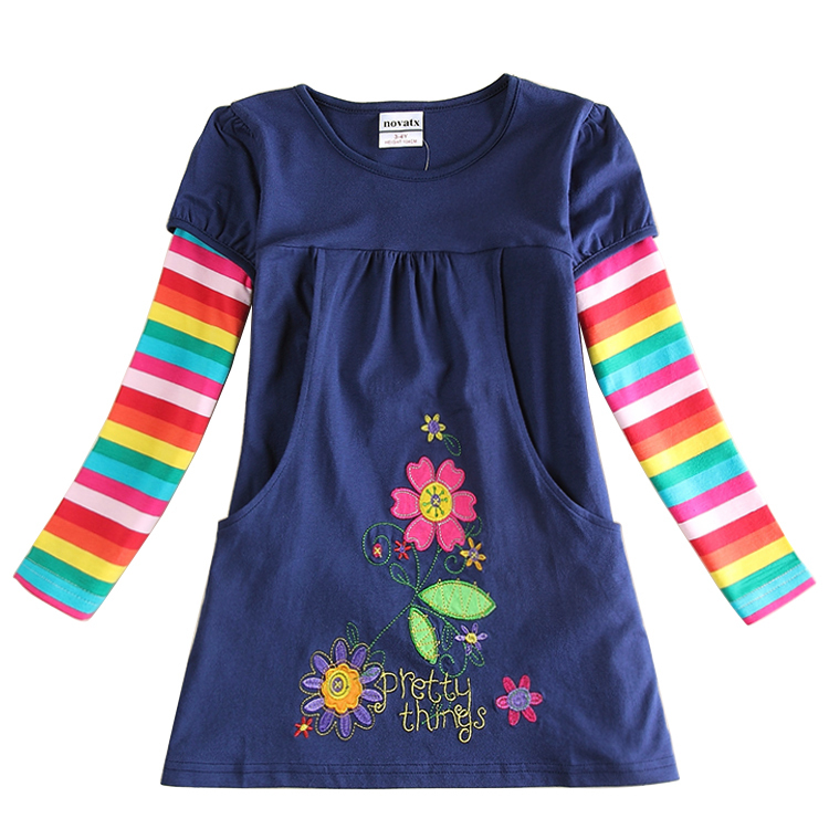 2015 newest design girls flower frocks children clothes hot dresses baby dresses long sleeve baby clothes(China (Mainland))