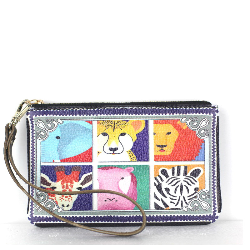 Women Wallets Tiger Print Genuine Leather Wallets Women Clutch Wallets Lady Vintage Clutch Bag Coin Purse Super 1 Mall(China (Mainland))