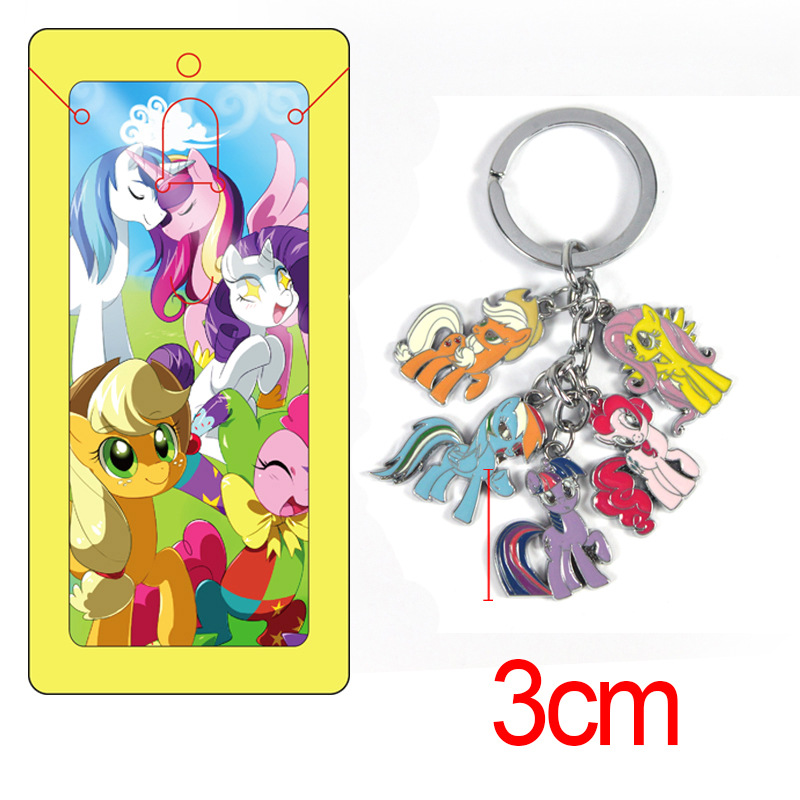 My Pony font b figure b font model toys keychain High quality Zinc Alloy New Anime