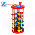 Wooden Colorful Ball Striking Ladder Toy Knock Ball The Ladder Color Recognition Toy Children Educational Toys