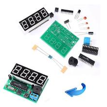 2015 New Hot  C51 4 Bits Digital LED Electronic Clock Production Suite DIY Kits Set IDXX(China (Mainland))