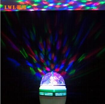 ... NEW E27 3W Led Multicolor Stage Light Bulb Crystal Magic Ball Lamp  Colorful RGB Auto Rotating ...