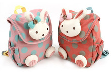 Animal design children boys girls 3D cute rabbit school bag anti-lost backpack kids kindergarten bag baby cartoon CSY T0511(China (Mainland))