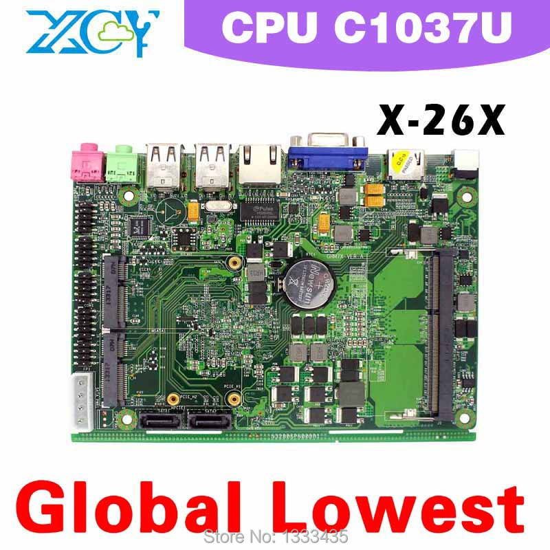 mini itx motherboard Micro main board pc motherboard x-26x C1037U Support HDMI and Video hot sale(China (Mainland))