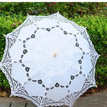 Libero del merletto di apertura manuale wedding ombrello nuziale ombrello parasole accessori per la cerimonia nuziale nuziale doccia ombrello u01(China (Mainland))