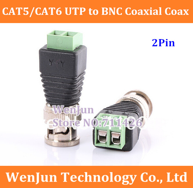Coaxial To Cat 5 : Pcs lot with free shipping cat utp to bnc coaxial