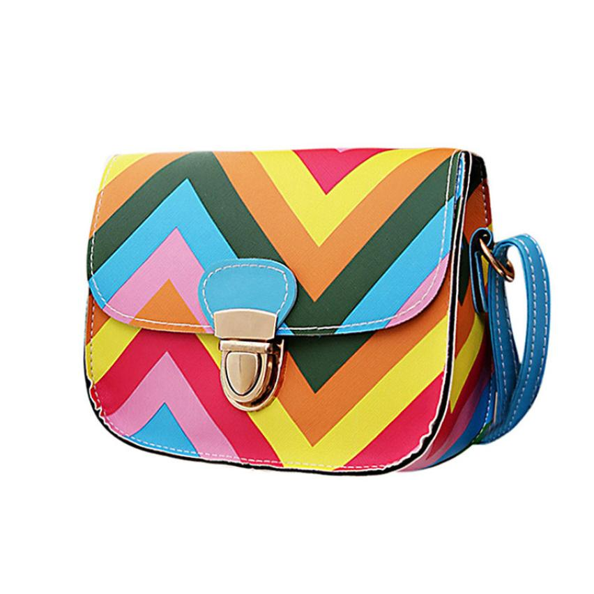 Brand New and High quality women handbag Rainbow Chain Of Small Square Package colors women messenger bag bolsos spanish Lucky(China (Mainland))