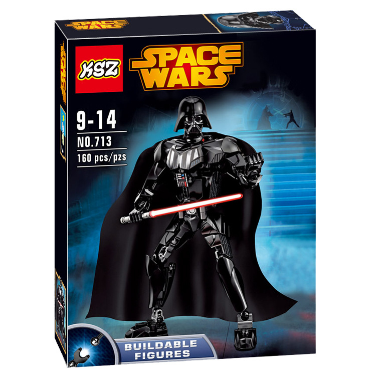 Star Wars dark Wu Shida, vader fancy assembled building blocks Children's early education toy model toy doll series brick