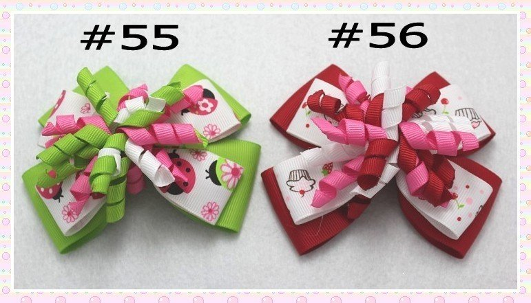 free shipping 32pcs 4'' M2MG Layered Korker Hair Bow boutique corker hair clips(without headbands)(China (Mainland))