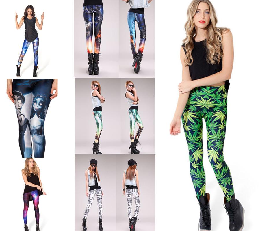 21 Models Fashion Womens Skinny Print Leggings Pants Sexy Ladies Tie Dye Stretch HOT SALE(China (Mainland))