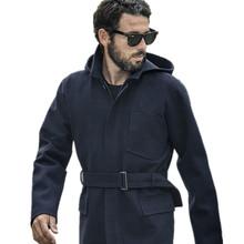 Mens Clothing Plus Size AK CLUB Brand 2016 New Men's Woolen Overcoat Detachable Hood Raglan Sleeve Wool Men Jacket Coat 1541041(China (Mainland))