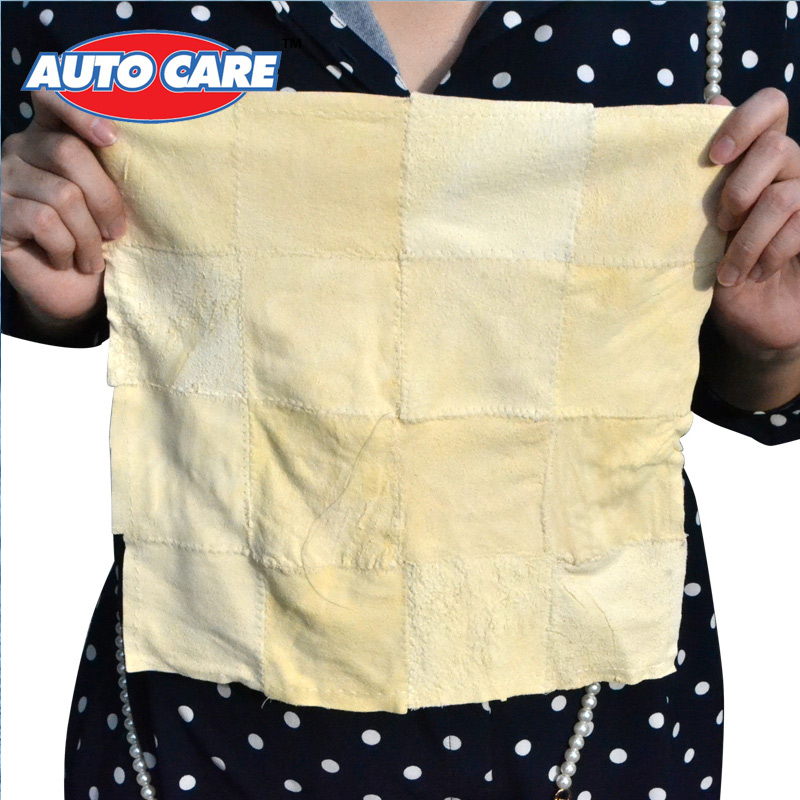 Auto Care 5 Pieces Car Patchwork Sheepskin Genuine Leather Chamois Cloth Towel for car cleaning drying(China (Mainland))