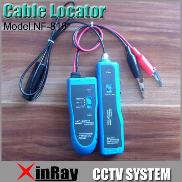 Free ShippingNew Underground Wire Locator Wire tracker With LED for electrical wire, telephone drops /LAN cable NF-816(China (Mainland))