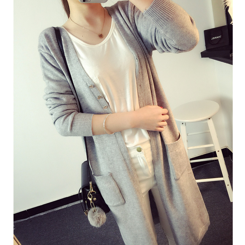 Knitted Cardigan Women European Style Oversize Casual Long Cardigan Sweater Long Sleeve Knitted Sweater Coat Jacket Outwear C01(China (Mainland))