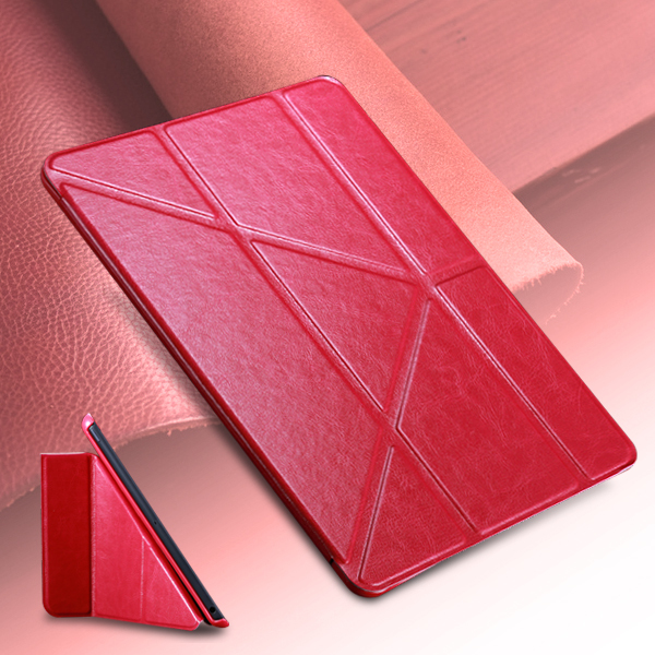 For Ipad Air Case 8 Folded Cover For iPad 5 Stand PU Leather Phone Bag Magnetic Smart Shell Full Protect Case(China (Mainland))