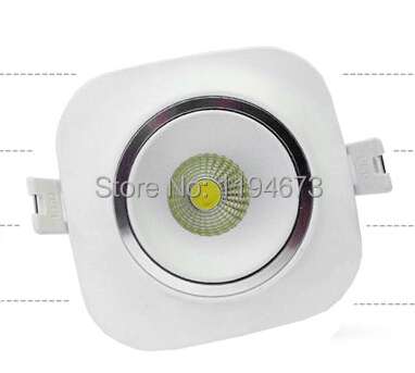 Free Shipping COB 10W Warm Cold White Dimmable Recessed Led Downlight Contain