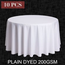 10PCS/LOT Wholesale Polyester Round Tablecloth For Wedding Hotel Decor White Table Cloth Square Table Linen Dining Table Cover(China (Mainland))