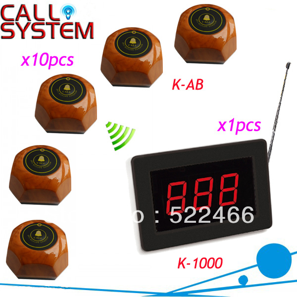 New arrival Wireless Bar Call System K-1000+AB for quick and wireless service with personalized button Shipping Free