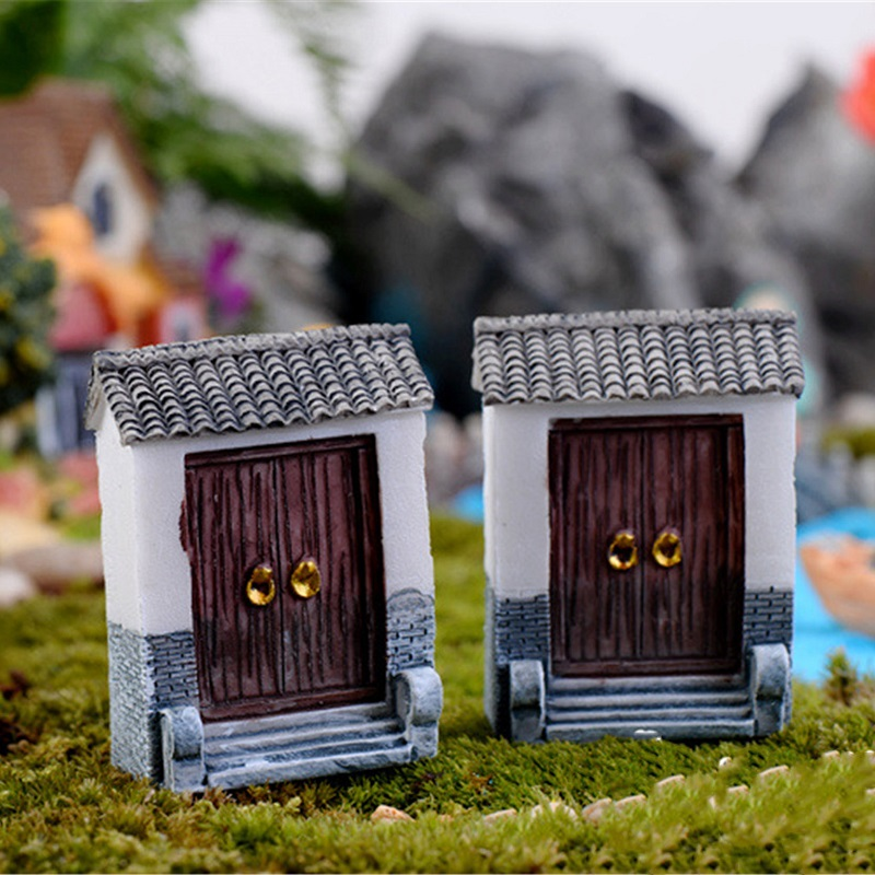 1pcs Artificial Cactus Cacti Fairy Garden Gate Miniature Garden Lawn Ornaments House Figurine Pot Yard Decoration Resin Craft(China (Mainland))