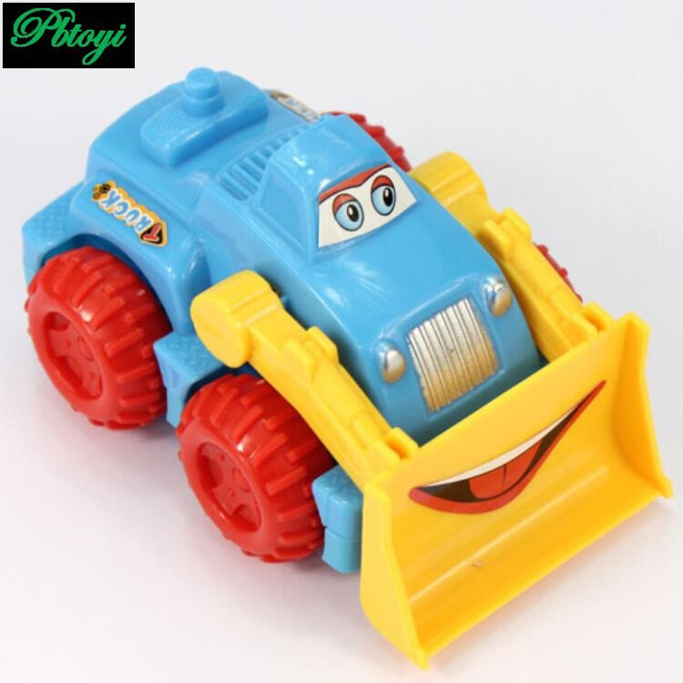 (6 pieces/set) High quality fashion children cartoon engineering vehicle inertial toy car wholesale PC0332(China (Mainland))
