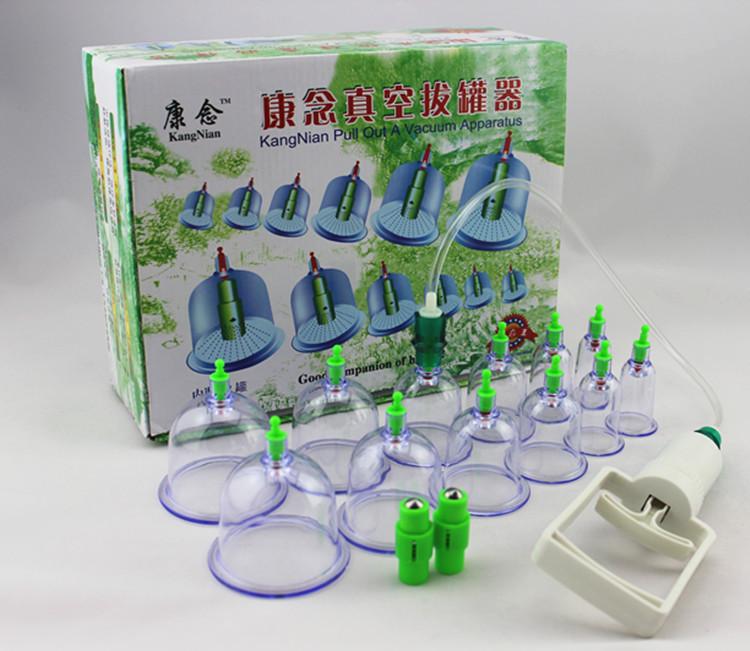 Vacuum cupping device 12 tank vacuum magnetic therapy vacuum tank cupping devices(China (Mainland))