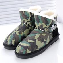 Al por mayor/al por menor 2016 winter Classic Botas cortas de Las Mujeres de piel de oveja genuina tobillo Invierno botas de nieve caliente zapatos de las mujeres(China (Mainland))