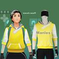 Anime Pokemon Go Costume Pocket Monster Trainer Yellow Hoodie Blazer Men Team Suit Halloween Male Game