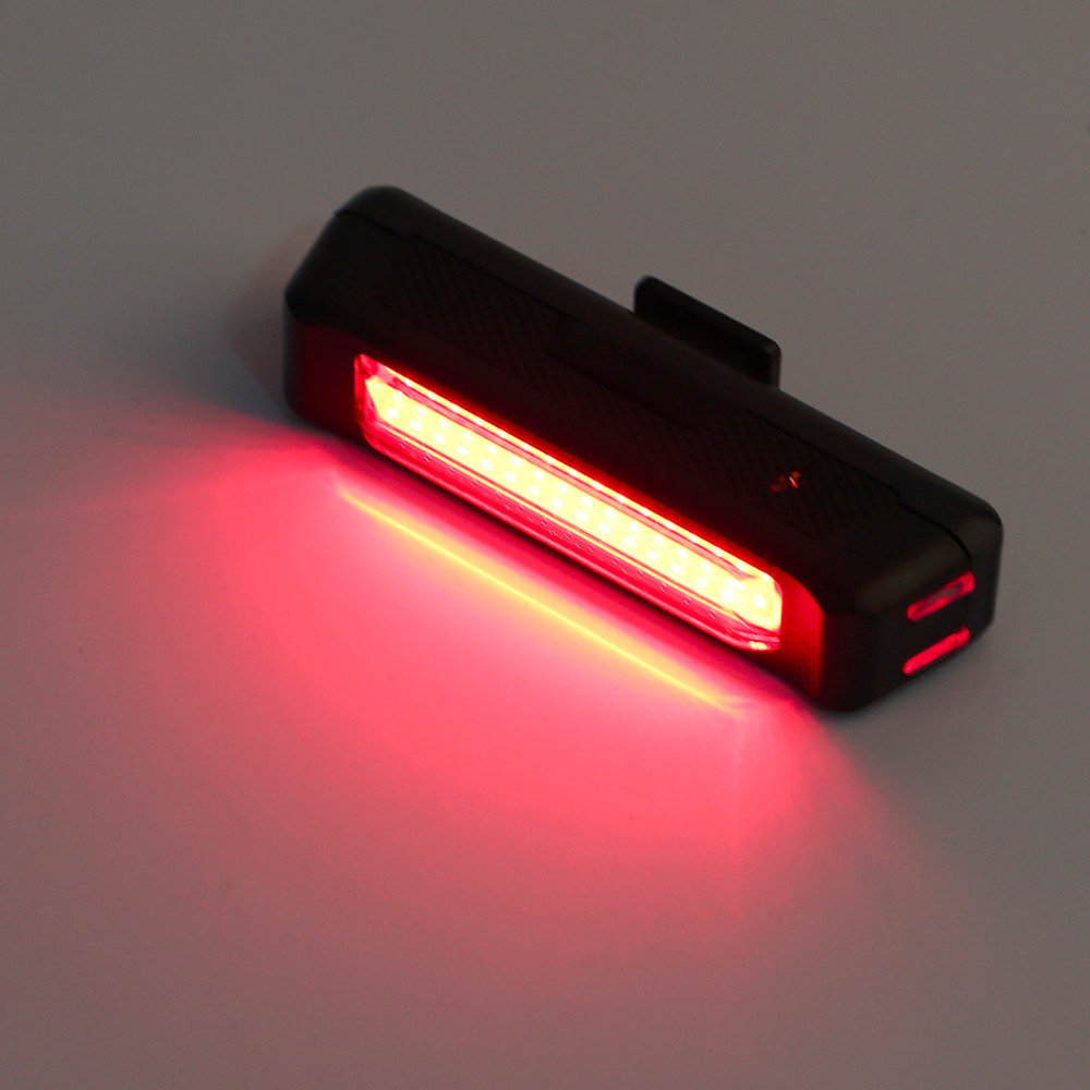 USB Rechargeable Bike Bicycle Light Rear Back Safety Tail Light Red New free shipping free shhipping(China (Mainland))