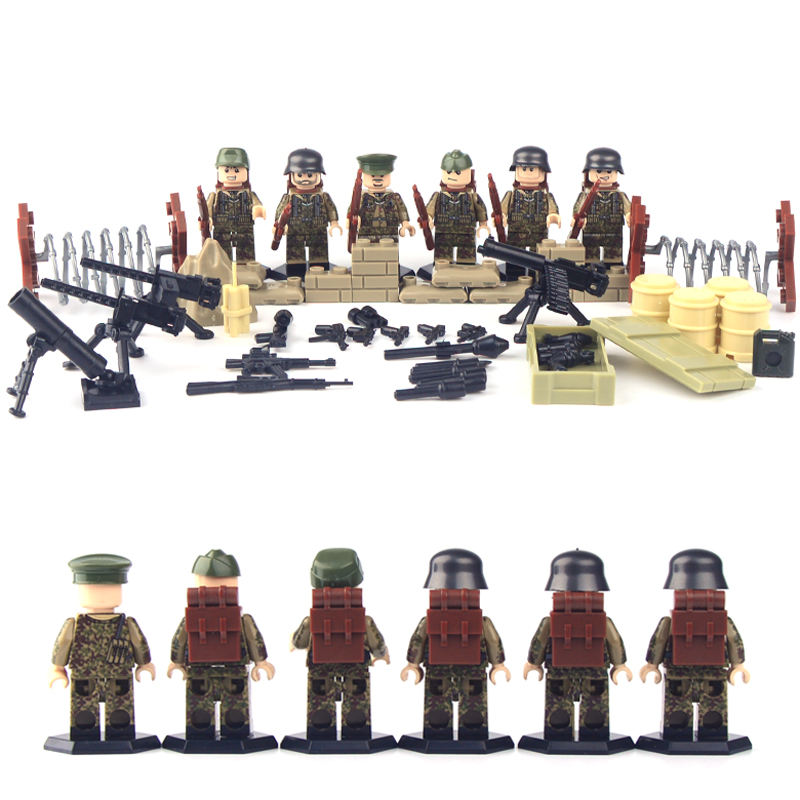 World War Commandos Team Marine Corps Minifigure Building Block Bricks Toys Imperial Forces Compatible with Lego Army Weapons(China (Mainland))