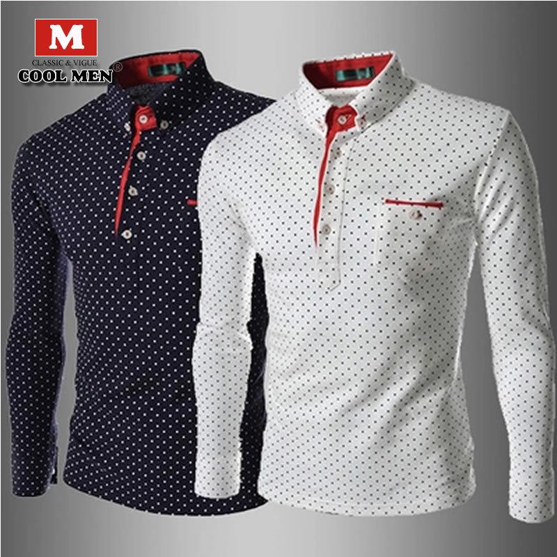 T Shirt Men 2015 Fashion Brand Famous Mens Sports Casual T Shirt Men's Long Sleeve Camisetas Dot Men T-shirt Clothes 00 - C13(China (Mainland))