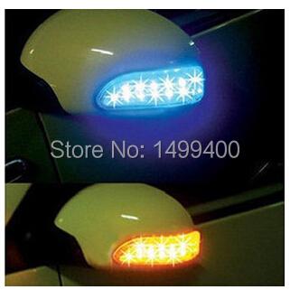 2pcs 13 LED 12V Car Auto Side Door Mirror Light Indicator Turn Signals Yellow Blue Colors car light source parking(China (Mainland))