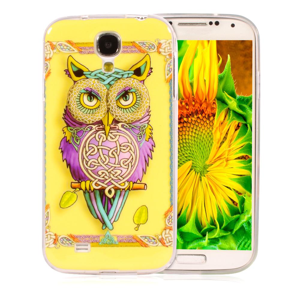 "Cute Cartoon Flag Soft Silicone Case For Samsung GALAXY S4 SIV I9500 I9505 S IV 5.0"" Printed Plastic TPU Cover Cell phone Bag(China (Mainland))"