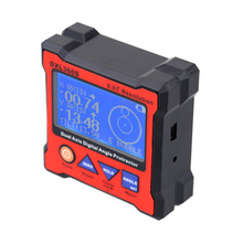 High-precision DXL360S Dual Axis Digital Angle Protractor Dual-axis Digital Display Level Gauge with 5 Side Magnetic Base(China (Mainland))