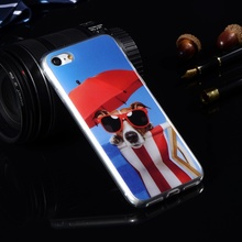 For iPhone 7 Plus Fashion Cartoon Pattern Silicone Cases For Apple iPhone 7 Soft plastic TPU Covers Protective Mobile Phone Bags
