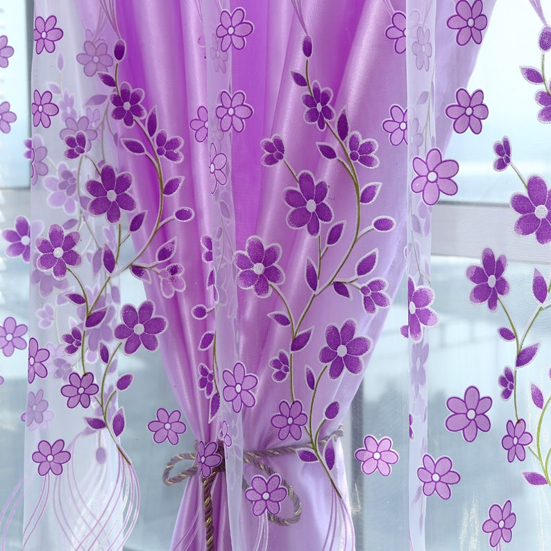 2016 sheer tulle curtains for bedroom Modern wisteria window Curtains for Living Room kitchen curtains Kitchen tulles sheers(China (Mainland))