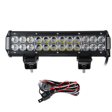 "12"" inch 72W LED Work Light Bar for Offroad Tractor Boat 4WD 4x4 Hummer Truck SUV ATV Combo Beam 12v 24v With CREE LED Chips(China (Mainland))"
