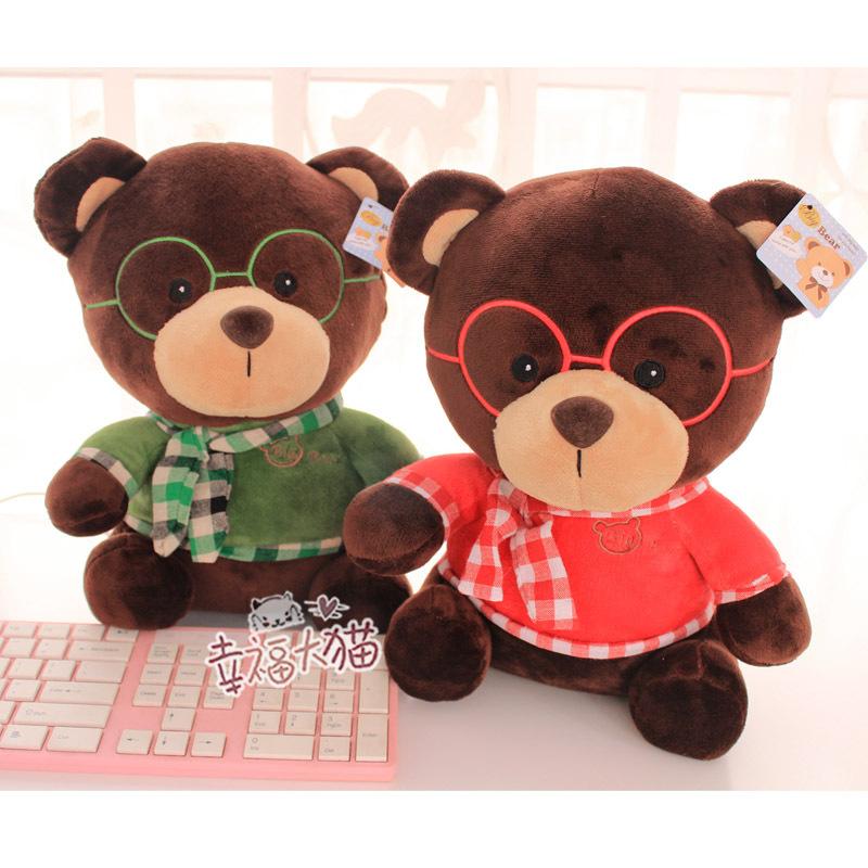 Pernycess 1pcs 40cm Teddy Bear lovers plush toys children gift(China (Mainland))