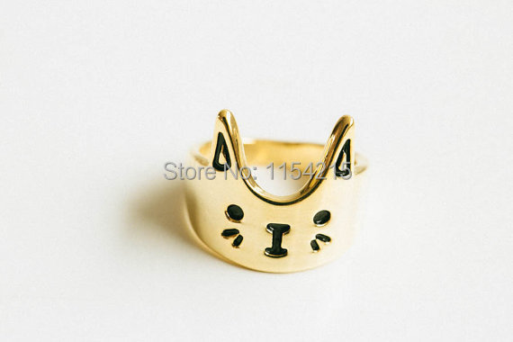 Min 1pc-Gold/silver/rose gold Fashion love cat ring,kitty ring,elephant ring EY-R076(China (Mainland))