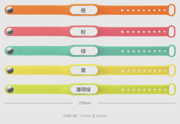 Colorful Replacement Silicone Bracelet Wrist Strap For Xiaomi 1 1s Smart Wristbands miband Smart Wearable Devices Accessories