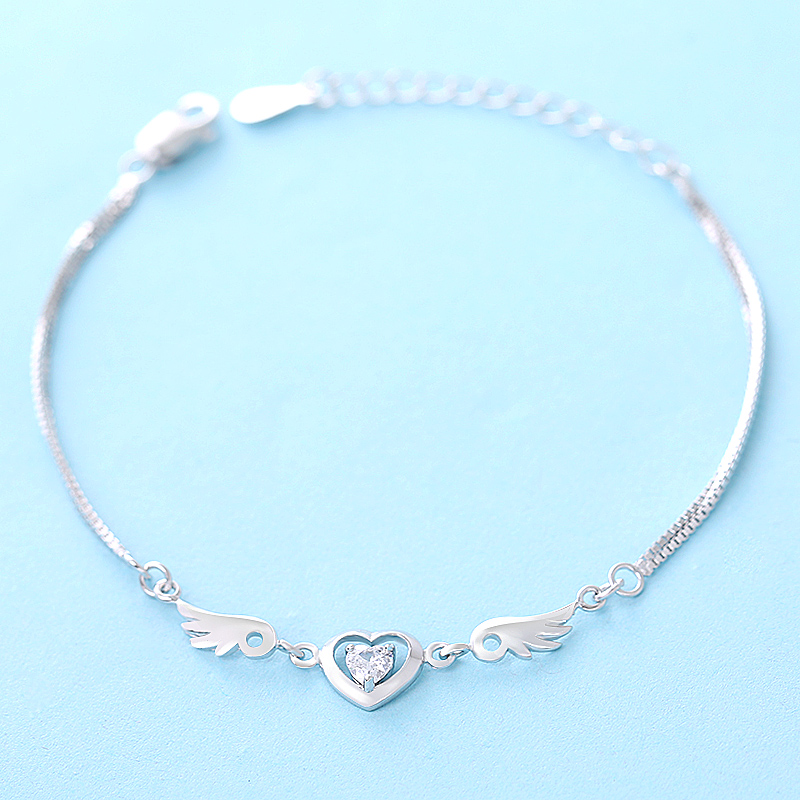 925 pure silver bracelet womens birthday new year gift jewelry female<br><br>Aliexpress
