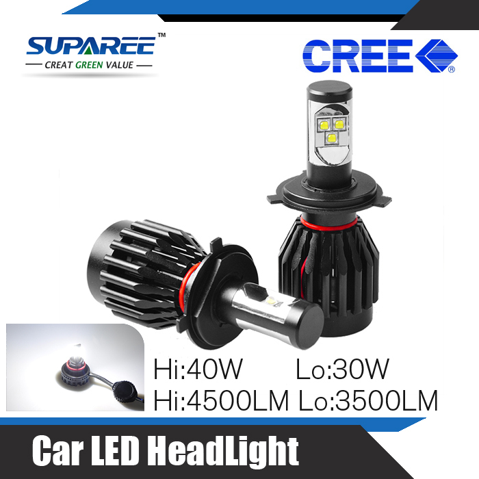 New Ariive Fashion Car LED Head Lights H4 Hi & Lo Beam 40W 4500LM 30W 3500Lm CREE Replace HID Lamp Wholesale Car Accessories(China (Mainland))