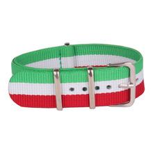 Venta al por mayor verde 2015 de deporte tela otan 18 mm Nylon correa de reloj correa accesorios bandas hebilla de correa 18 mm