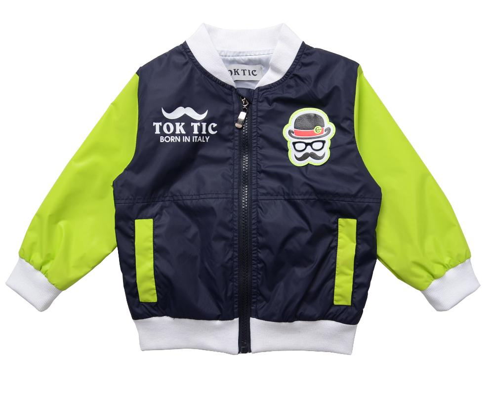 2-6 age children outerwear kids fashion jackets children clothing TOK TIC brand inside linging boys coat(China (Mainland))
