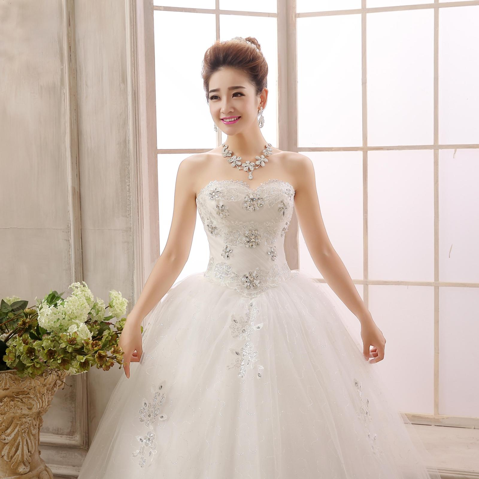 Only love Ni latest Korean fashion lace bra diamond bride Qi thin waist wedding band(China (Mainland))