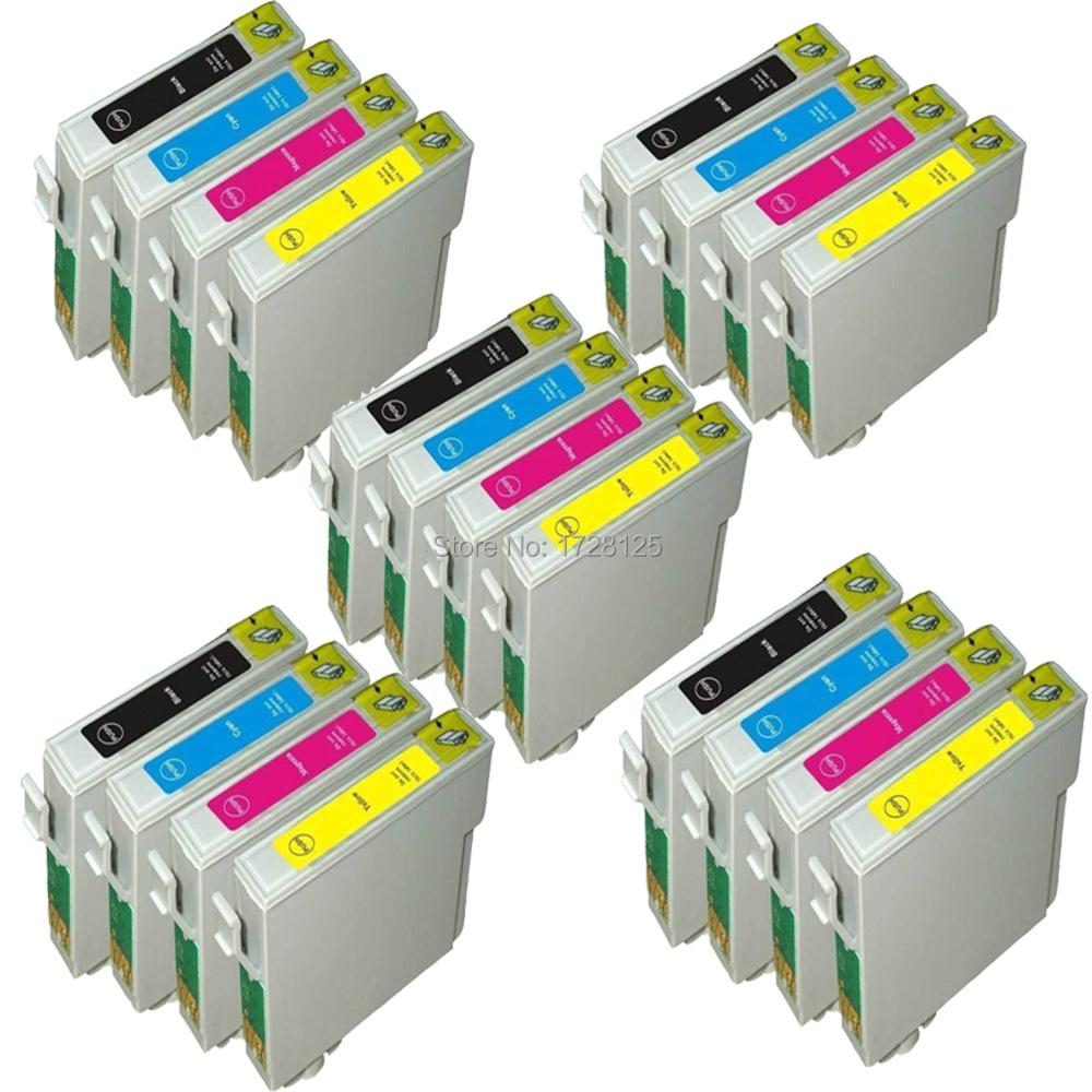20 INK CARTRIDGE REPLACE FOR STYLUS SX200 SX205 SX210 SX215 SX218 SX400 SX405 SX410 SX510 SX515W PRINTER - 5SETS (NOT GENUINE)