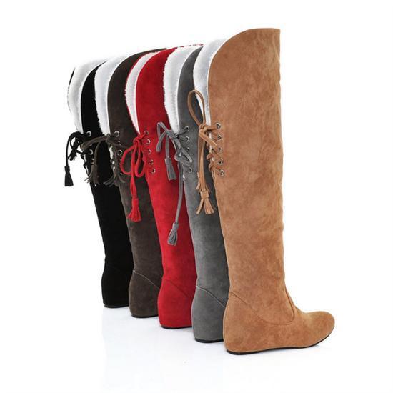 fashion winter boots flat elevator scrub snow boots flat