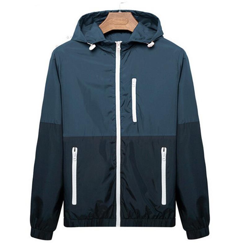 Summer Jacket Men 2015 New Summer Autumn Windbreaker Man Sports Outdoors Hooded Sportswear Slim Fit Men's Clothing ZHZ1499(China (Mainland))